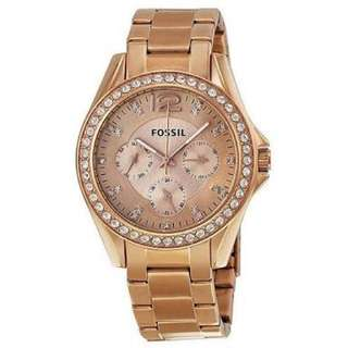 Fossil Riley Multifunction Rose Gold