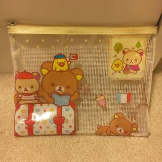 rilakkuma Pencil Case Clear