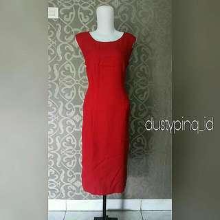 Sleveless Red Log Dress