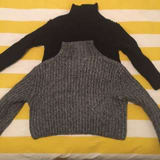 turtleneck crop jumpers