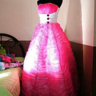 Pink debutant/prom Gown-- 2k