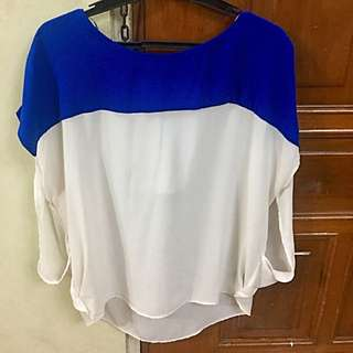 Forever 21 Colorblock Batwing Blouse