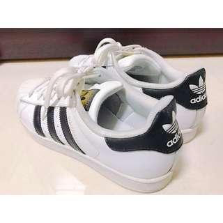 Adidas Superstar 金標 經典基本款 女鞋 25.5cm