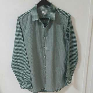 Seed Green Chequered Shirt