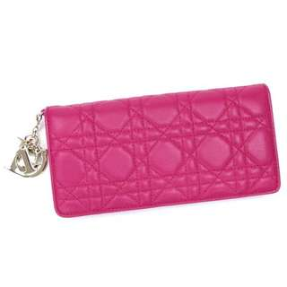 Christian Dior Fuchsia Zip Wallet