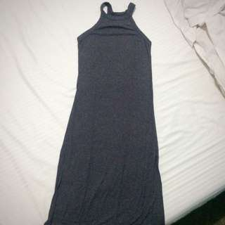 Long Gray Dress