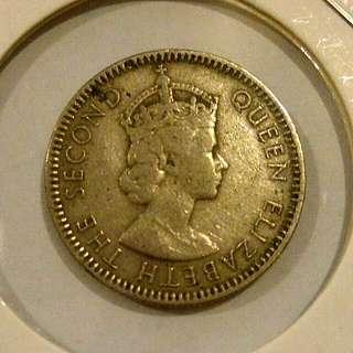 Queen Elizabeth II 10cent 1957H