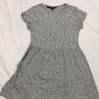 Topshop Petite Gray Dress