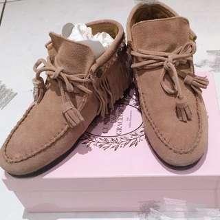 Gracegift 麂皮精靈短靴