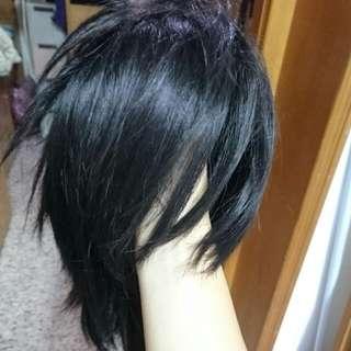 黑 短 假髮 Cosplay