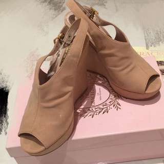 Gracegift 魚口楔型涼鞋