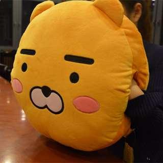 韓國 kakao friend 娃娃 公仔 ryan  暖手枕 抱枕