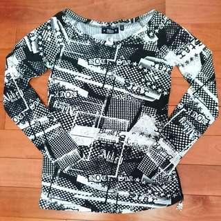 Avril 艾薇兒自創品牌 Abbey DAWN 搖滾星星 BLACK STAR 側邊拉鏈上衣 T-shirt