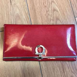 Salvatore Ferragamo Red patent Wallet