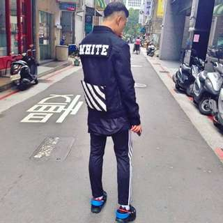 OFF-WHITE 2016ss硬挺丹寧外套重磅