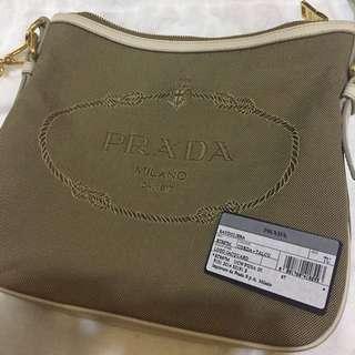 65a2e42e8a81 Prada Crossbody - Kakis Colour With Beige Leather