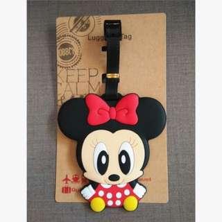 Disney 迪士尼 Q版米尼Minnie 行李牌名牌