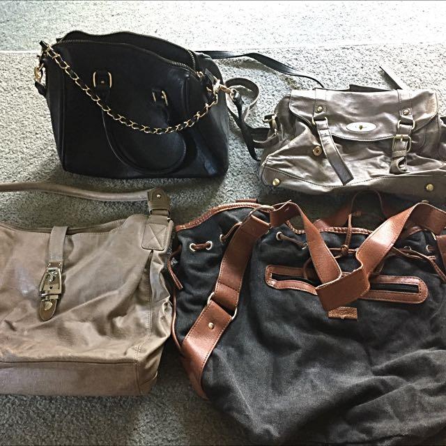 4 X Womens Handbags