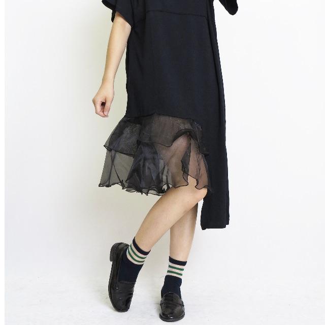 烏干紗拼接洋裝