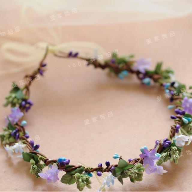 現貨⭐兒童藍紫花圈