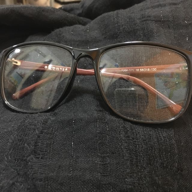 超大 平光眼鏡