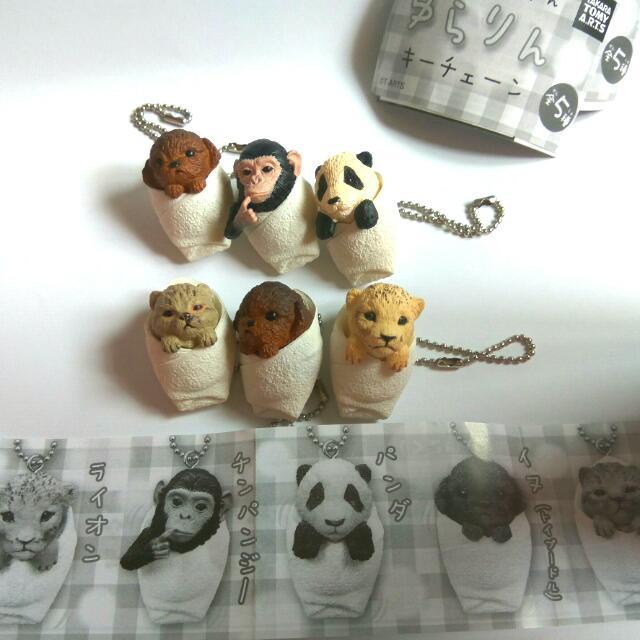 (猴子 熊貓 售出)動物 Baby扭蛋 轉蛋 貴賓 豹 貓