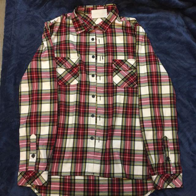ACE LAMN 代售 格紋襯衫 前短後長