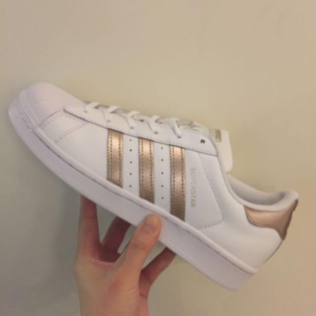 Adidas Superstar 玫瑰金 金標