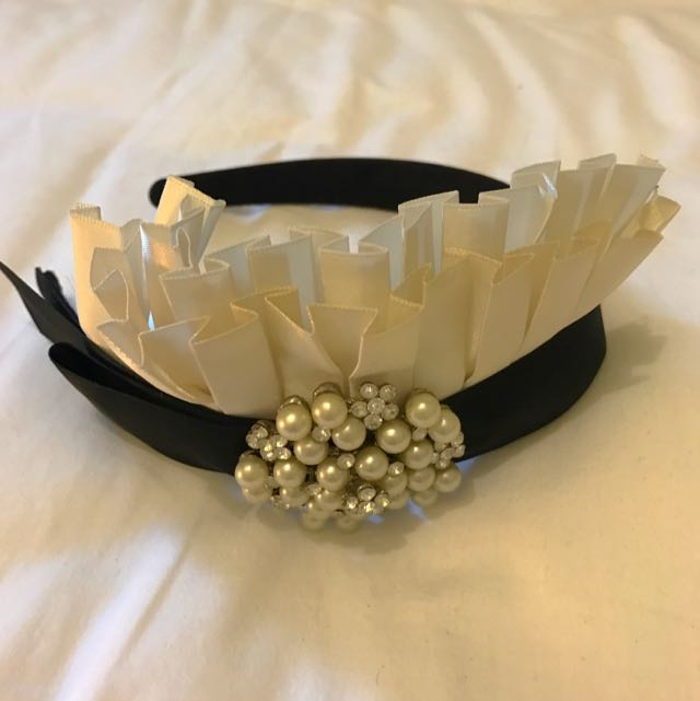 Alannah Hill Alice Band With Pearl & Diamanté Detail