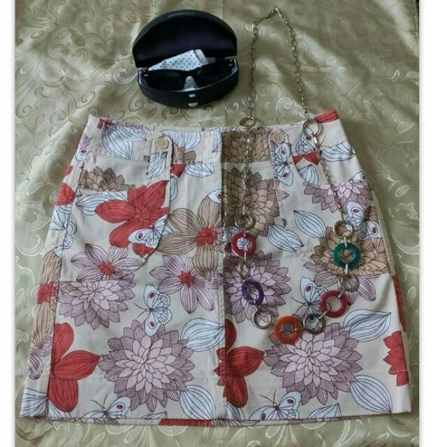 Anne Taylor Loft Floral Skirt
