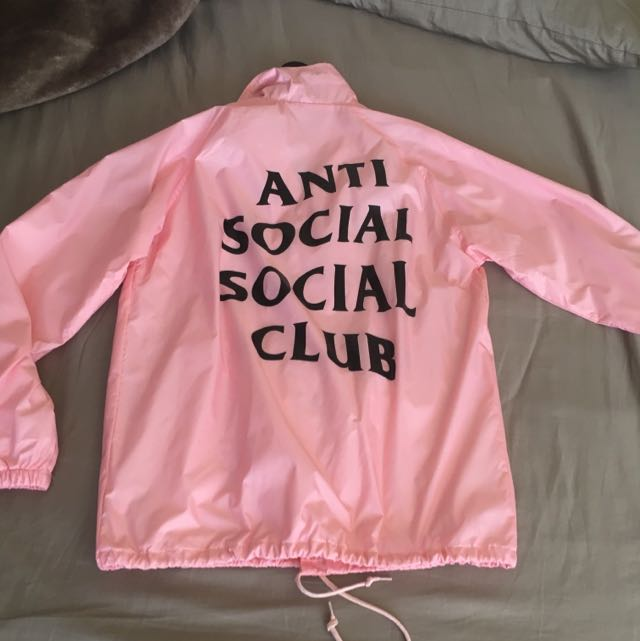 Antisocial Social Club ASSC Coach Pink Medium