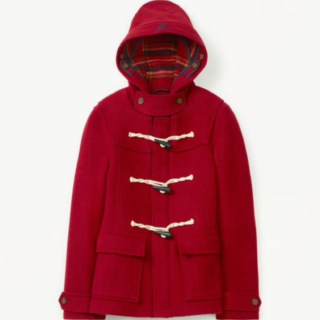 Aritzia Red Duffle Wool Coat (XXS)