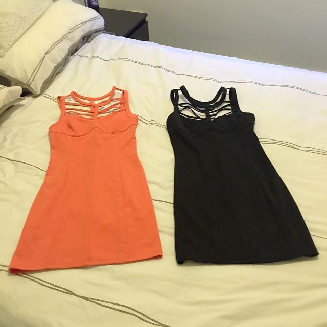 Black & Peach Dress Both Together $35