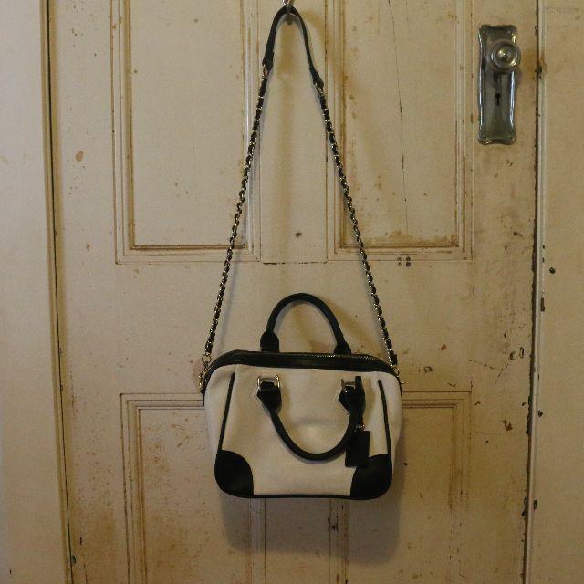 Black + White Handbag (Forever New)
