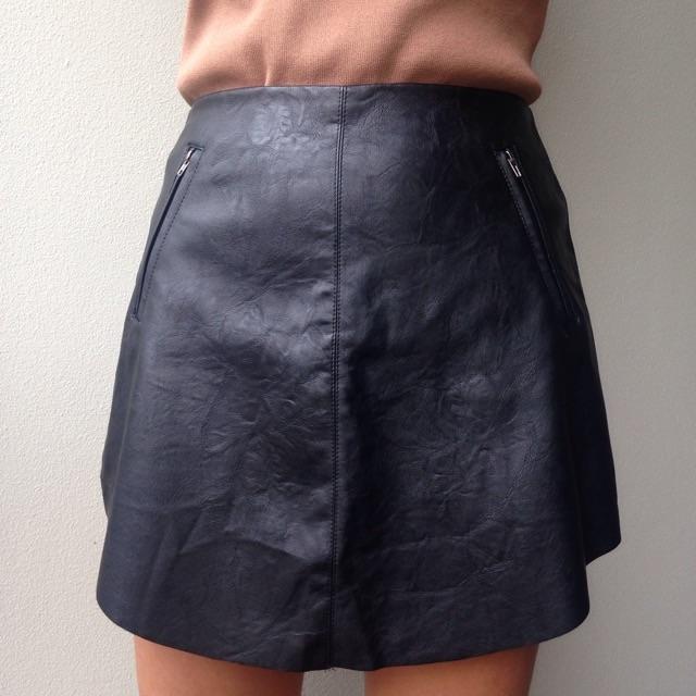 black leather skirt $25