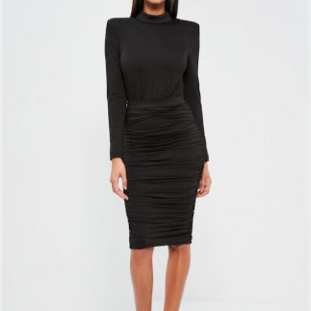 Black Rouched Skirt Size Smal