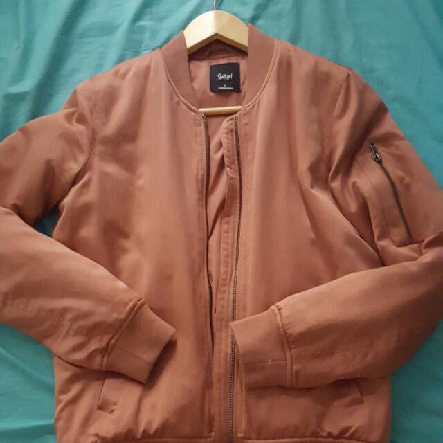 Blush bomber jacket