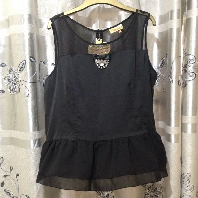BNWT Vera Wang Black Sleeveless