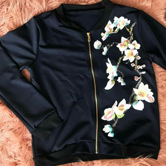 Bomber Jacket With Patch