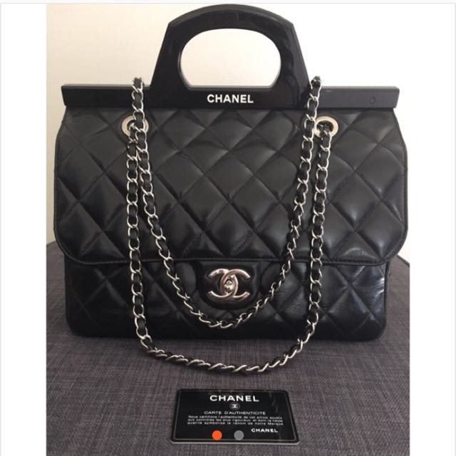 Chanel CC Delivery Tote Bag 非常新 附保證卡 可面交