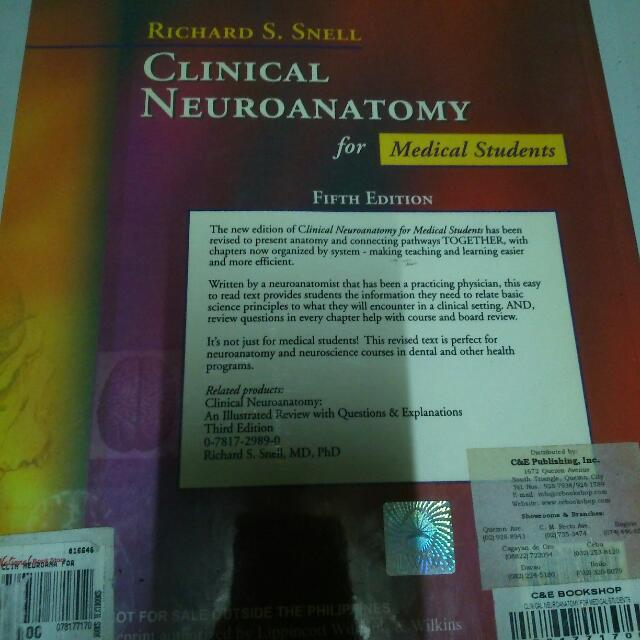 Clinical Anatomy By Richard S. Snell, Textbooks on Carousell