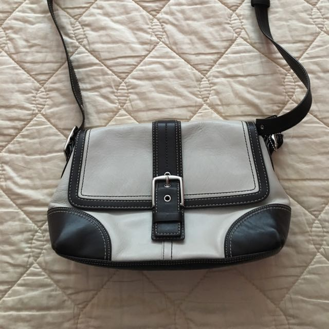 Coach Leather Purse- Cream And brown