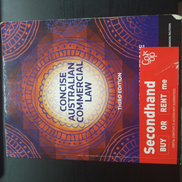 Concise Australian Commercial Law 3ed Edition