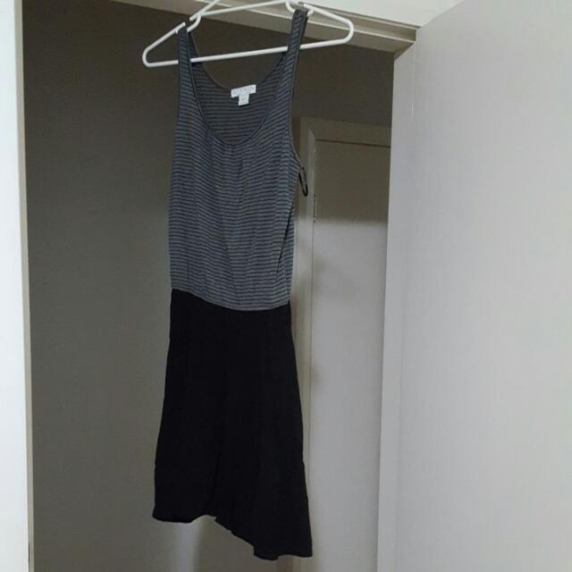 Cotton On Black And Grey Dress