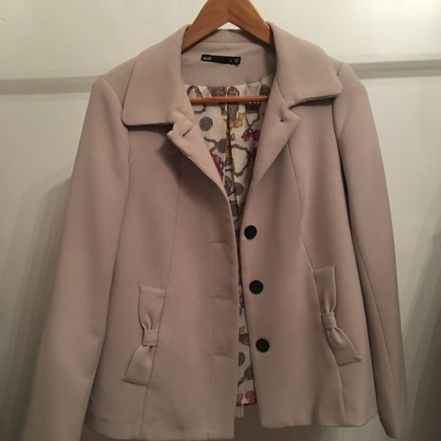 Dotti Cream Jacket. Size 8
