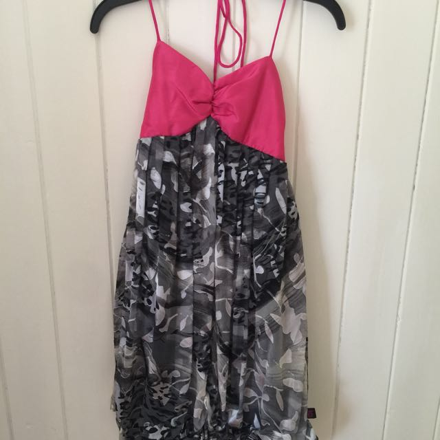 Emanuella.Y Pink/Grey Silk Dress (size S)