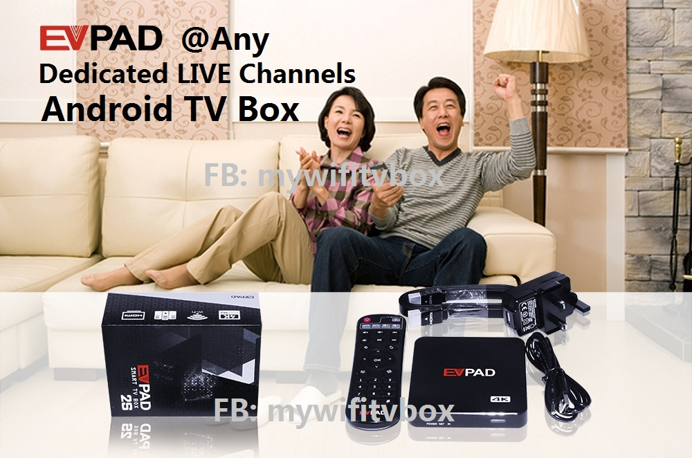 EVPad TV Android Box $0 subscription 1'000+ channels
