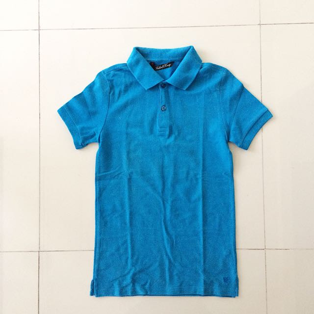Folded & Hung Blue Polo Shirt