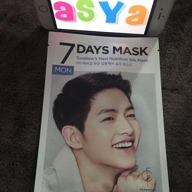🇰🇷 Forencos 7 Days Mask Song Jong Ki  Bought From Korea