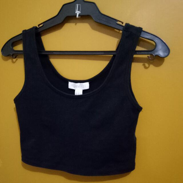 Forever21 Cropped Top Sleeveless